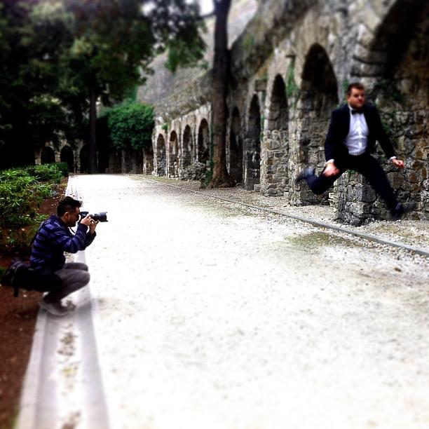 Backstage from wedding photography - zamek książ